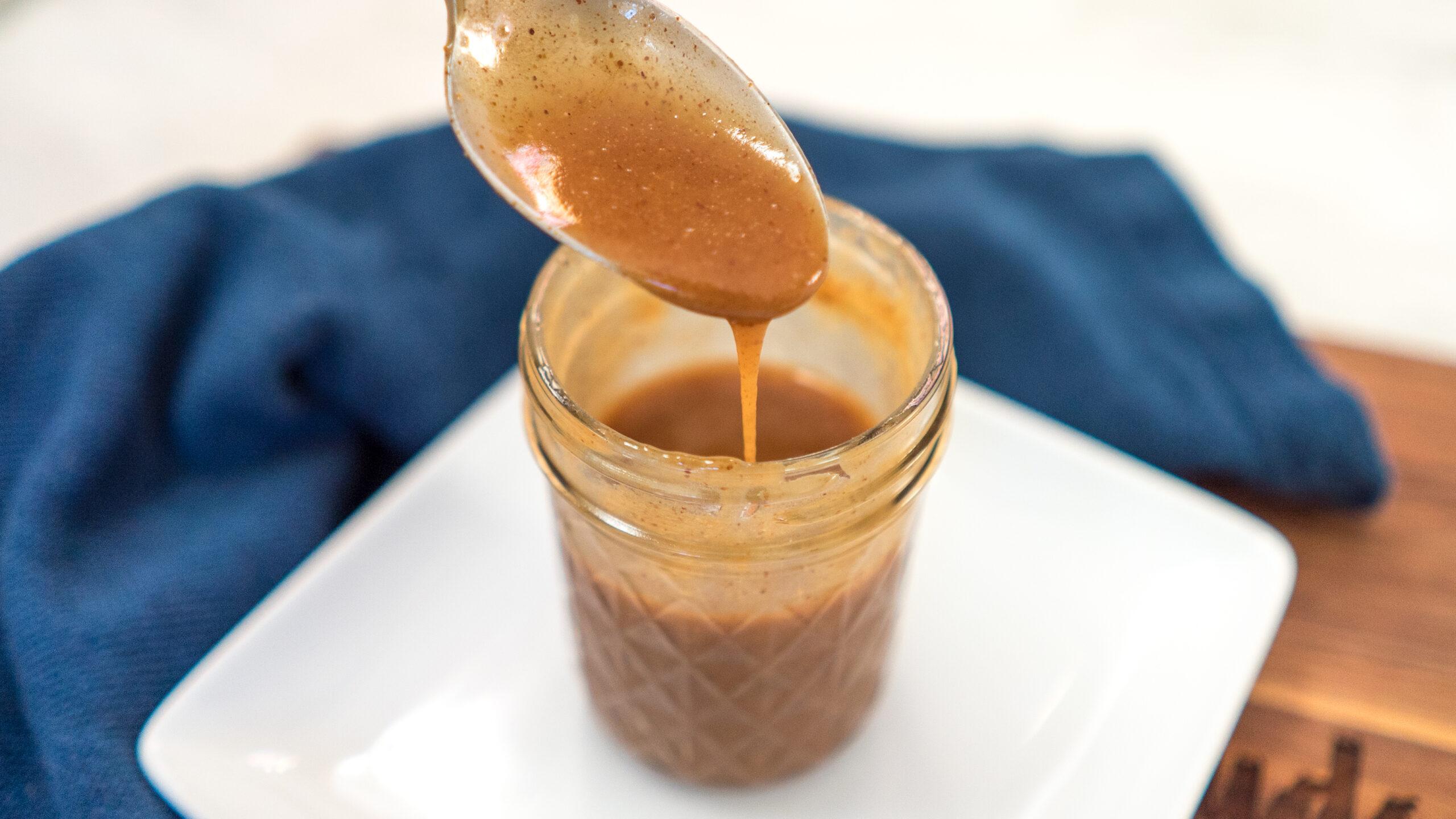 Vegan Sugar-Free Salted Caramel Sauce