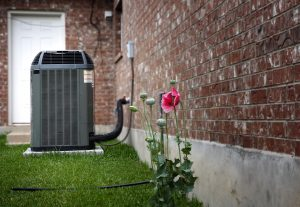 High efficiency modern AC-heater unit, energy save solution on backyard