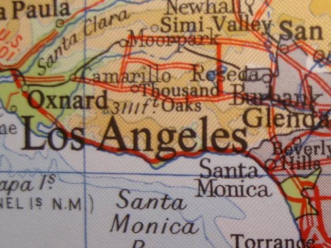 Map of California - Thousand Oaks