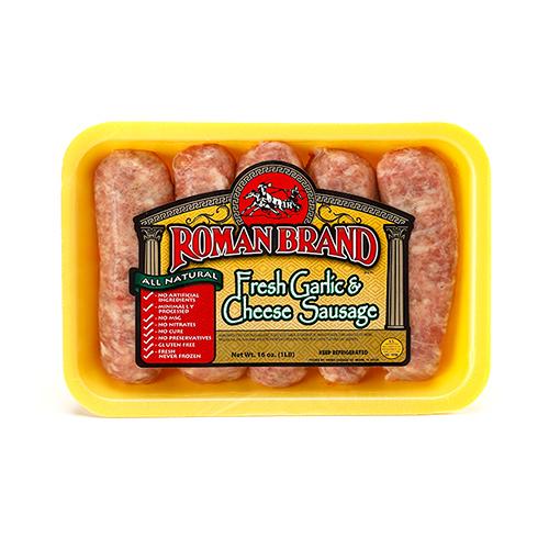 Roman Brand Fresh Garlic & Cheese Sausage