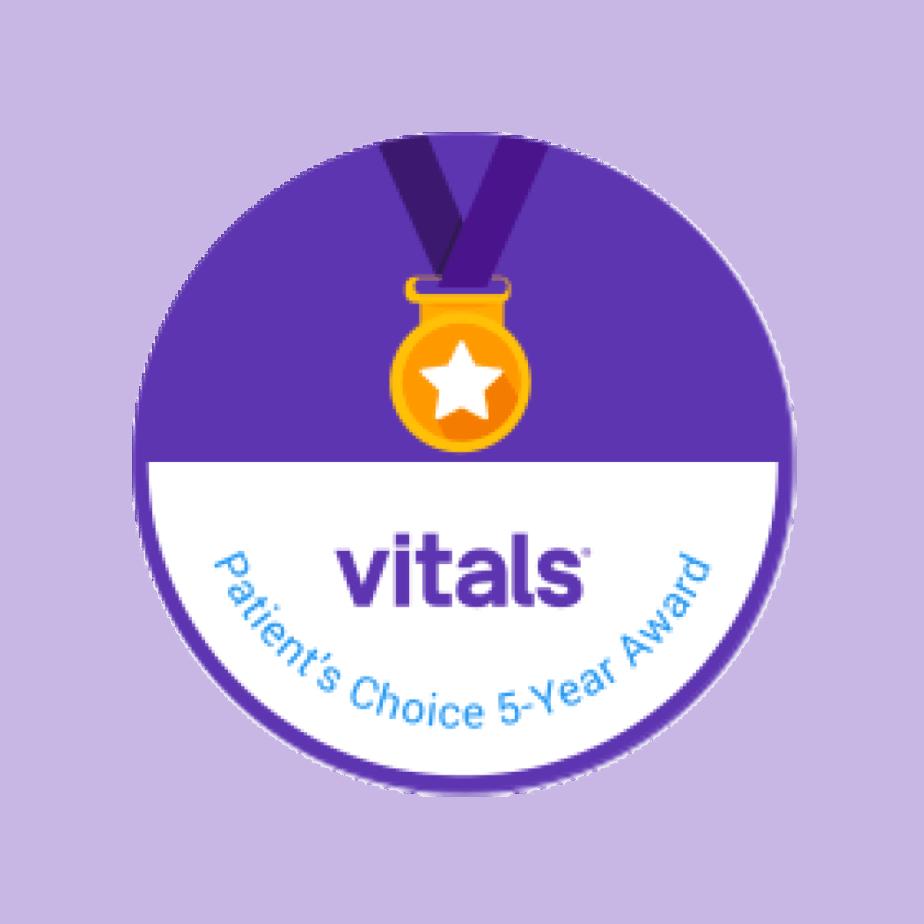 Vitals Patient Choice Award 5 Years