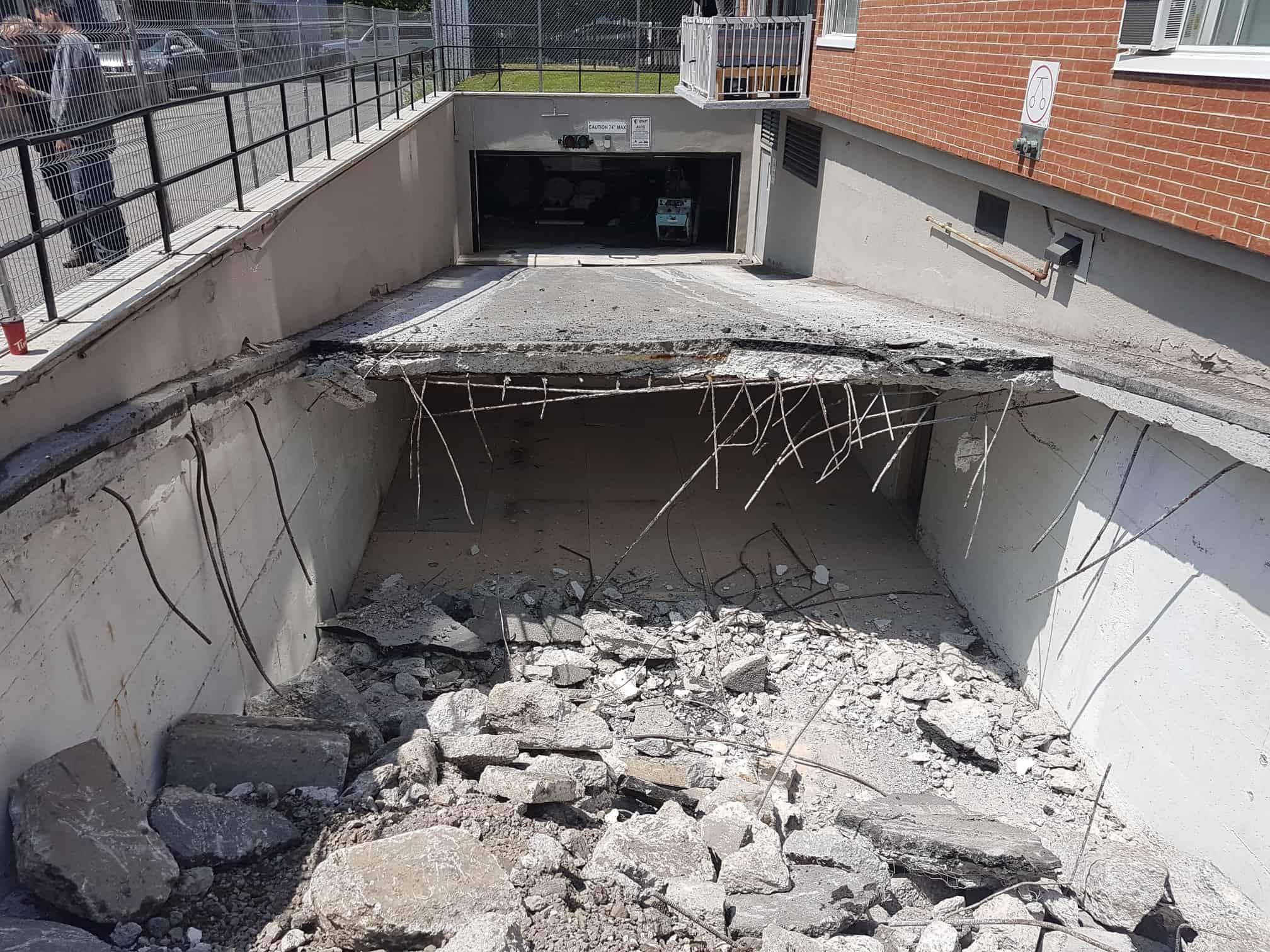 Montréal réparation de béton stationnement souterraine