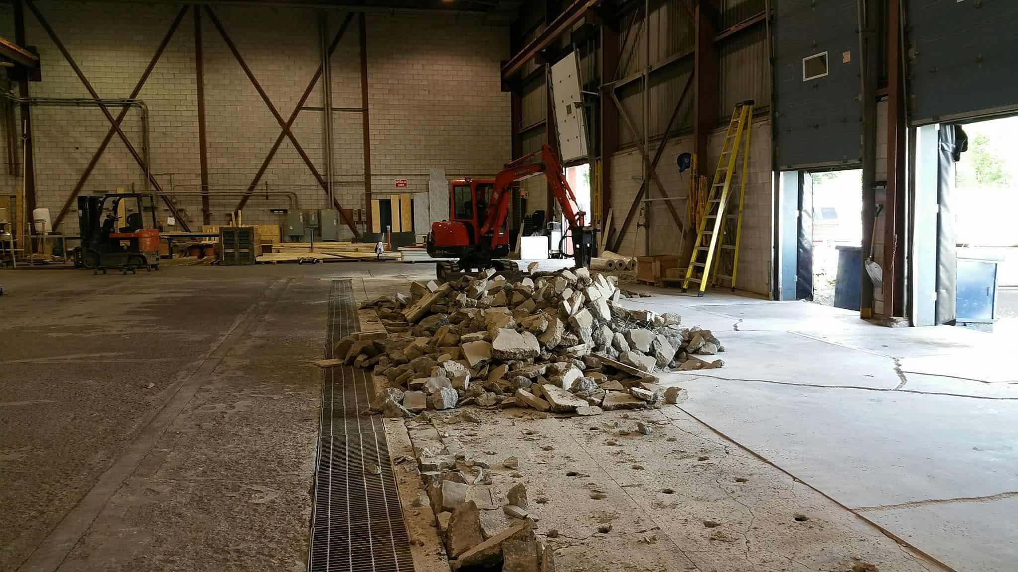 décontamination de pyrite