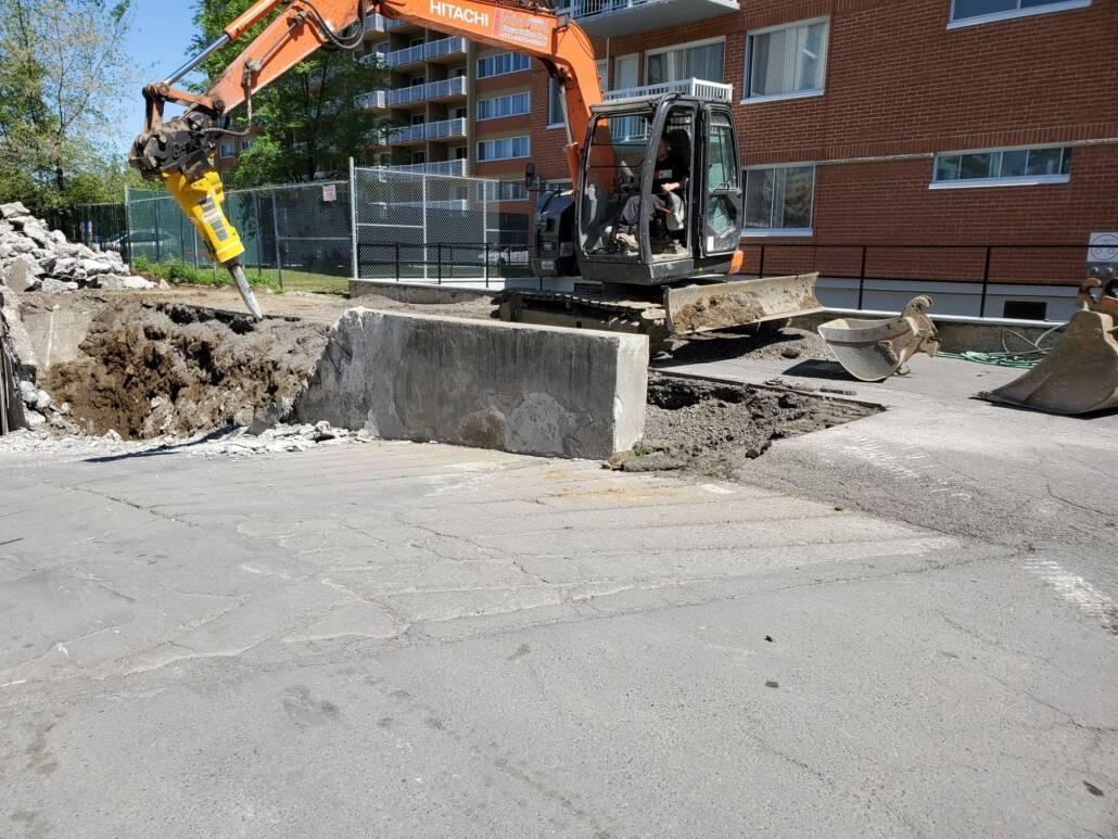 demolition of concrete