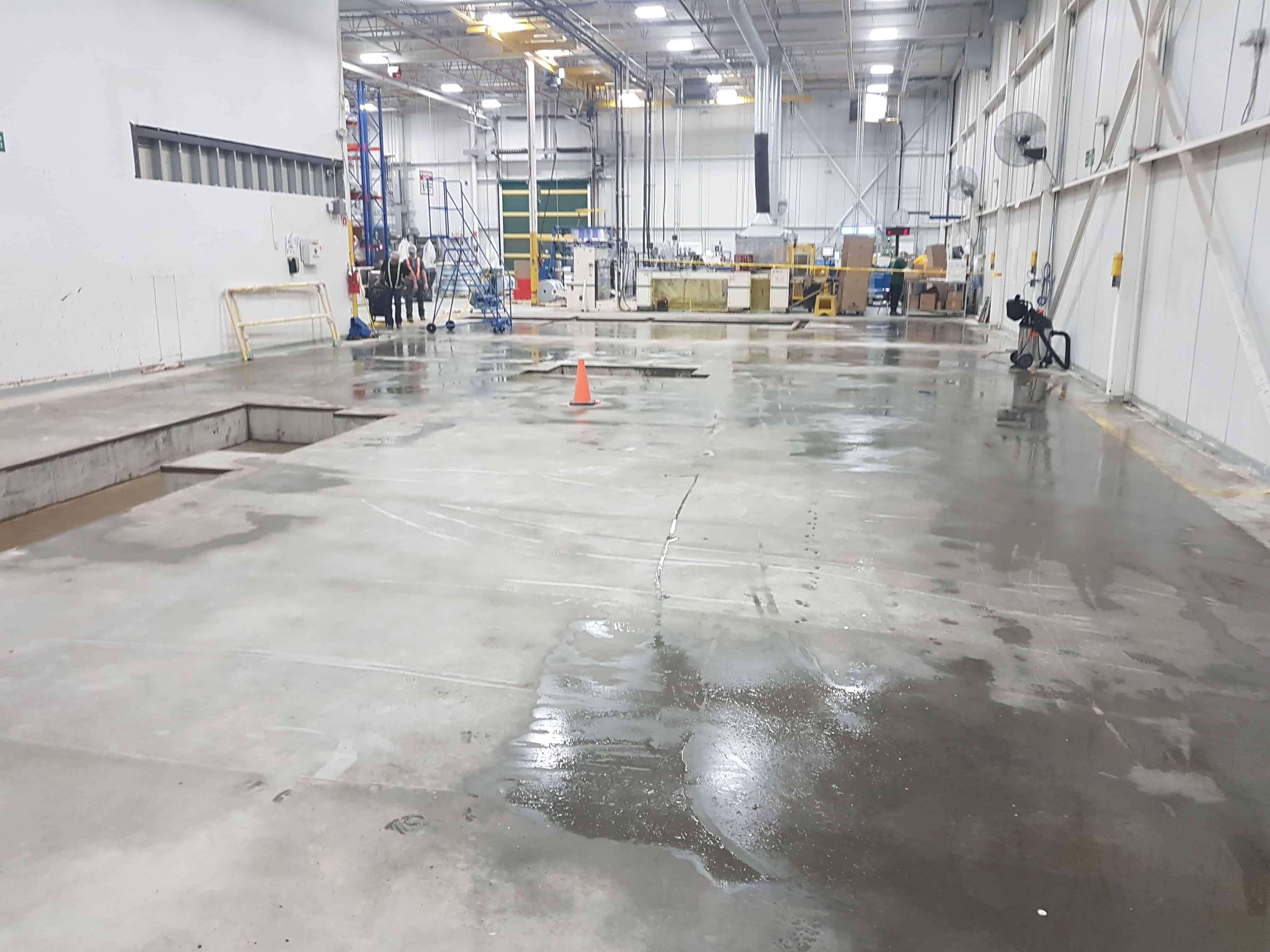 Concrete machine base contractor