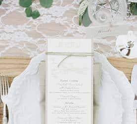 Place Setting at La Ventura San Clemente Wedding Venue