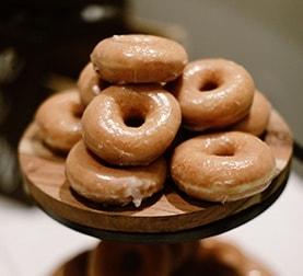 Donuts at La Ventura San Clemente Wedding Venue
