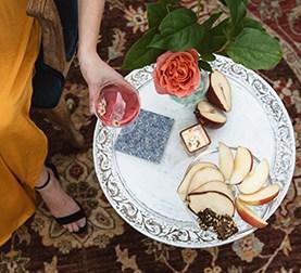 Appetizer plate at La Ventura San Clemente Wedding Venue