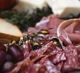 Meat and Olive tray at La Ventura wedding venu in San Clemente