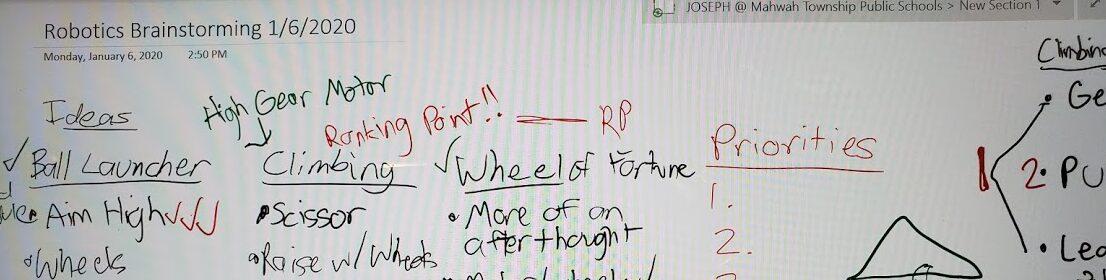 Robotics Brainstorming 1_6_2020