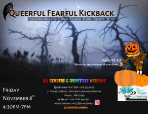 Queerful Fearful Kickback @ The Center for Hope and Healing, Inc.