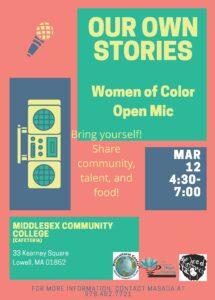 Women of Color Open Mic @ Middlesex Community College Lower Cafe