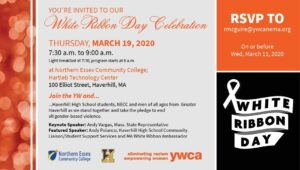 White Ribbon Day Celebration @ Northern Essex Community College, Hartleb Technology Center