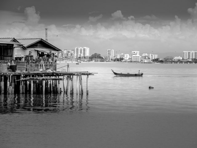 A view from the Tan Clan Jetty in George Town
