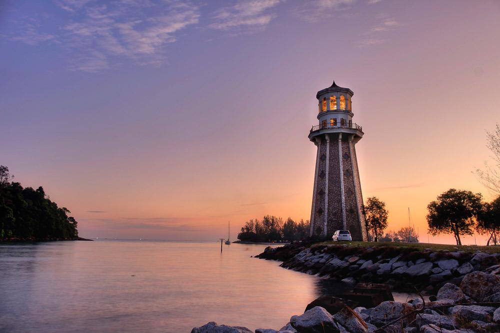 Langkawi Lighthouse Drive - Sunset HDR