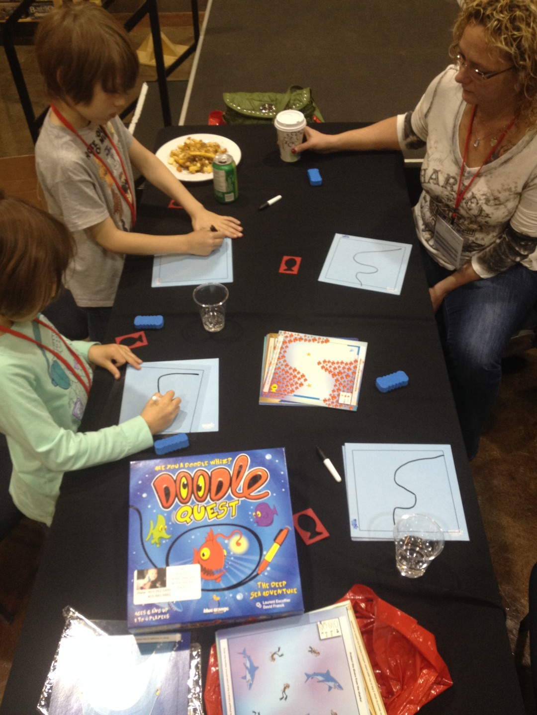 Doodle Quest (1-4 players; 15 minutes; ages 5+)
