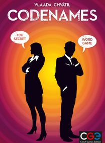 Codenames (2-8 players; 20 minutes; ages 10+)
