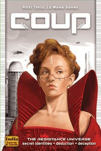 Coup (2-6 players; 15 minutes; ages 9+)