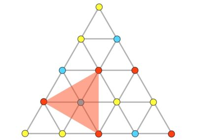 Three Color Equilateral Triangle