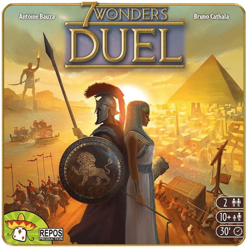 7 Wonders Duel (2 players; 30 minutes; ages 9+)
