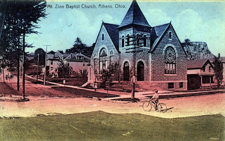 Postcard of the Mt. Zion Baptist Church, 1909. Courtesy of Ada Woodson Adams.