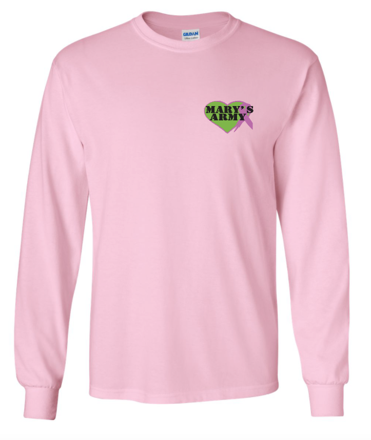 Sm logo long sleeve tee shirt pink