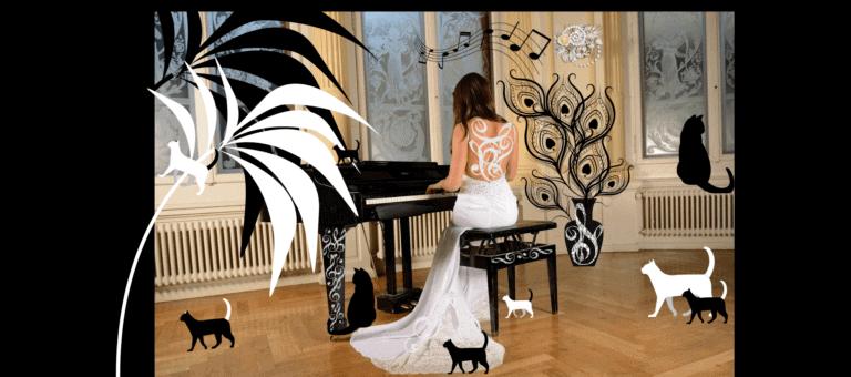 cat litter piano