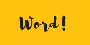 Word Up - Favorite Words