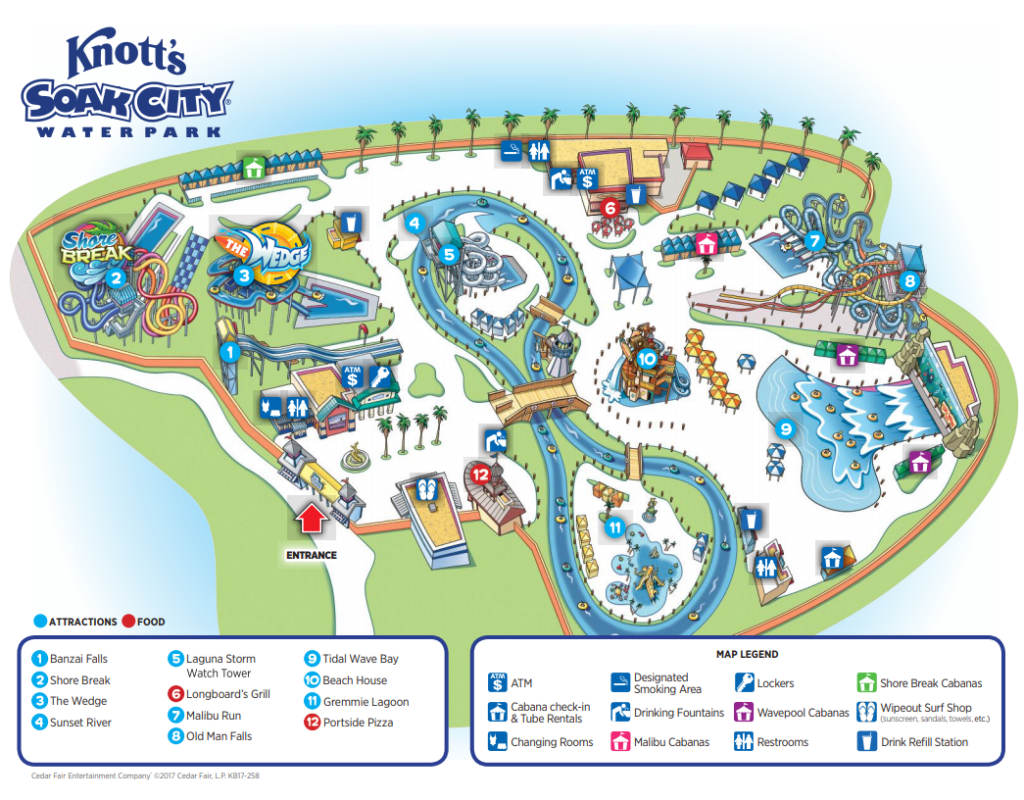 Knott's Berry Farm Soak City Map