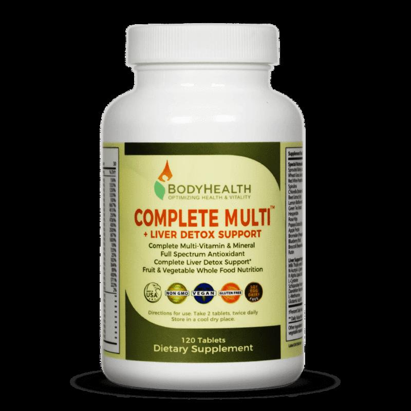 Complete Multi + Liver Detox Support – 120 Tablets