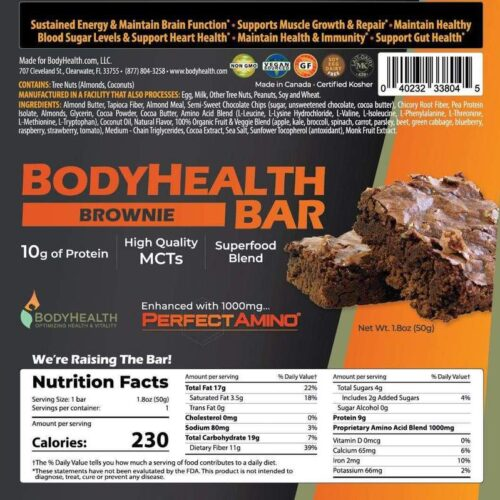 BodyHealth Protein Bar (Box of 12)