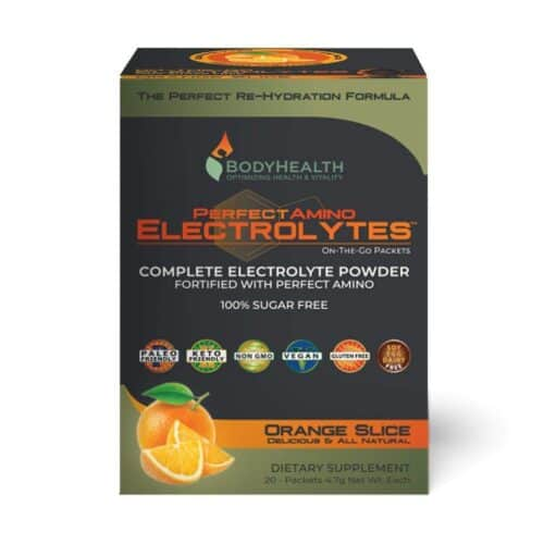 PerfectAmino Electrolytes – Packets – Orange Slice