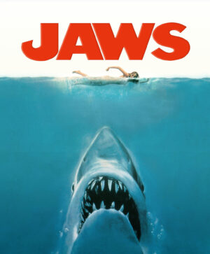Jaws on the water at a boat-in movie