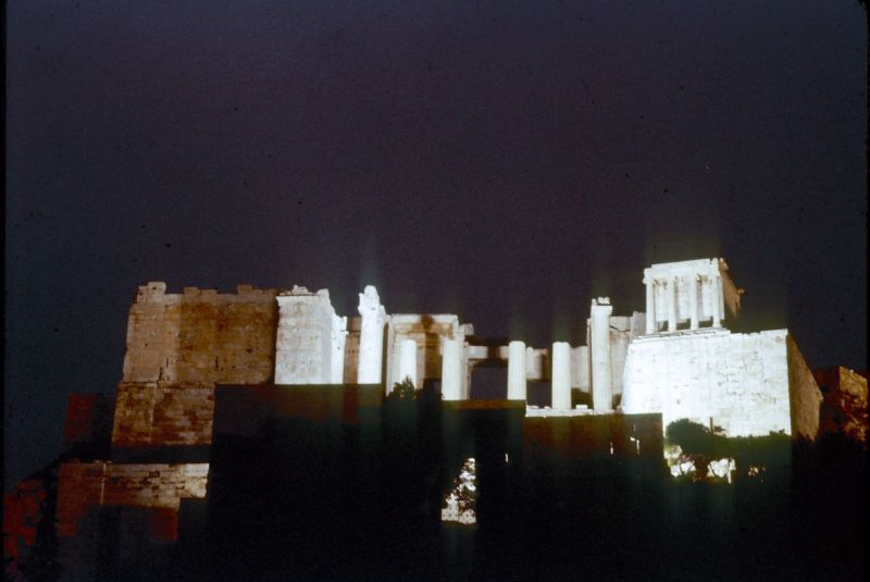 1 Acropolis at night from below
