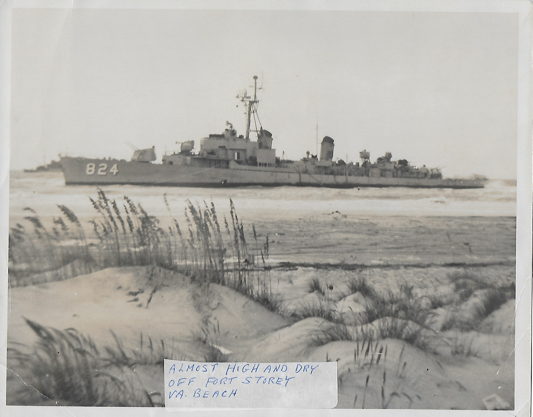 USS Basilone Grounded at Fort Story, VA