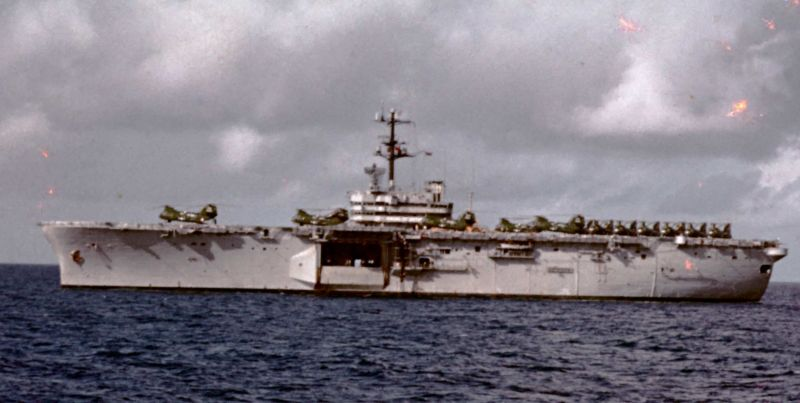 LPH-9 Guam cruising the med 1969