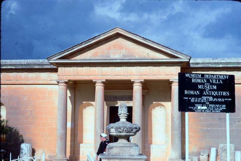 Museum entrance for roman antiquities Rabat Malta