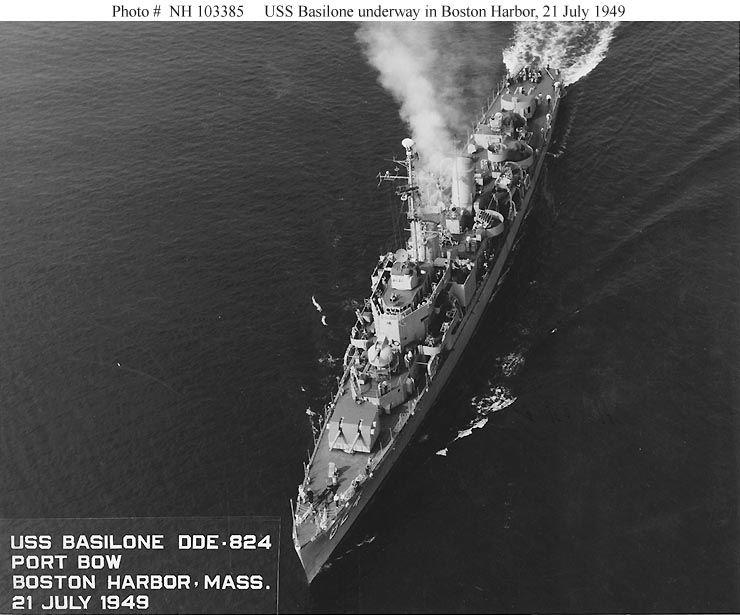 Port bow Boston harbor, July, '49
