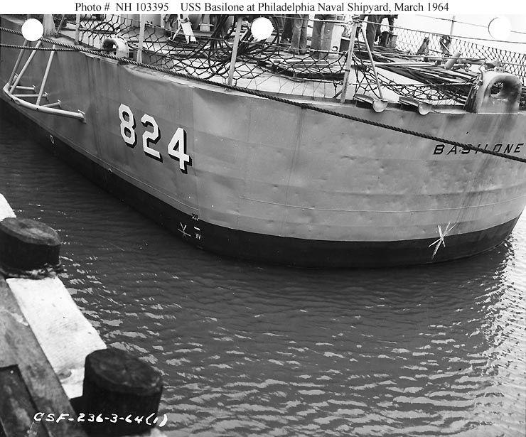 View of the port quarter.  PNS, Mar. '64
