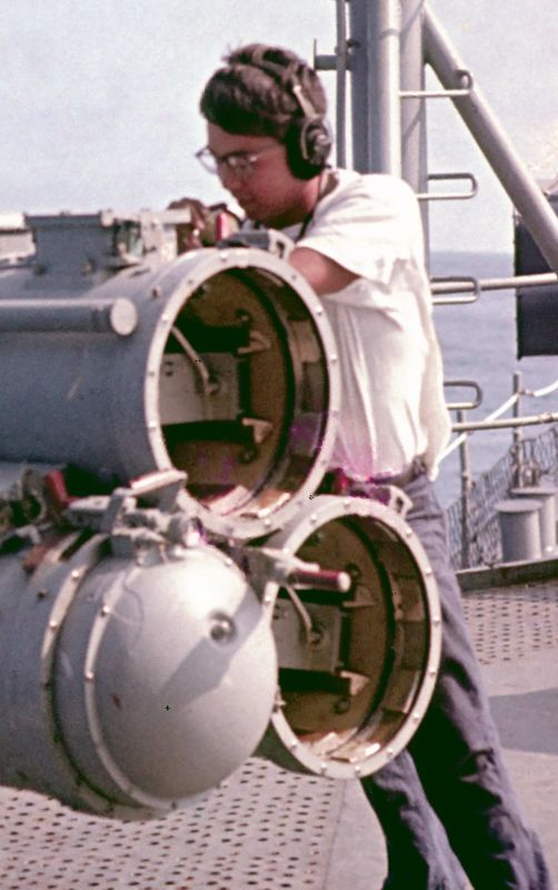 Preparing to fire a torpedo closeup
