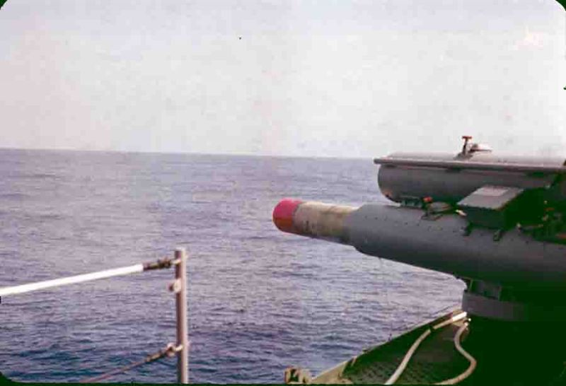 slide 2 Firing practice torpedo at a sub 1969