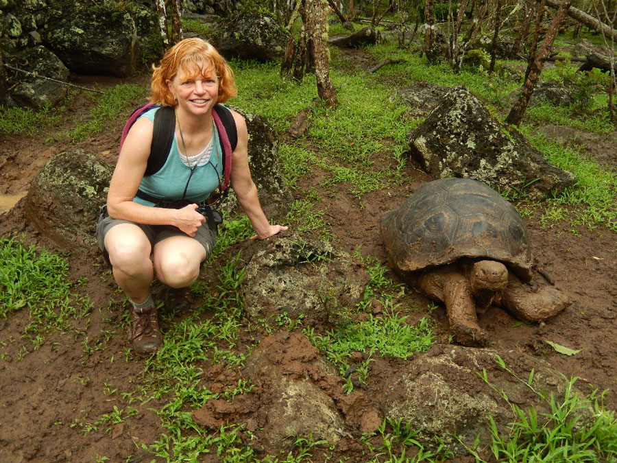 Nancy and a giant turtle