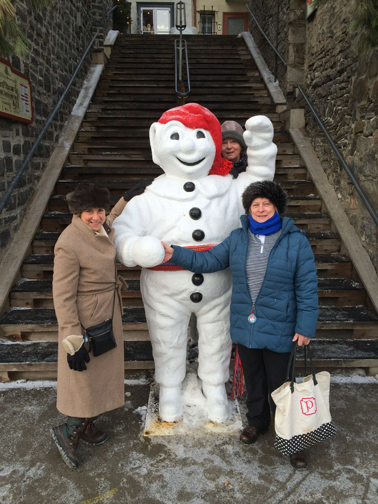 ...with the snowman