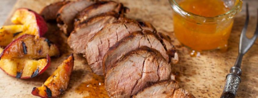 Bourbon Glazed Pork Tenderloin
