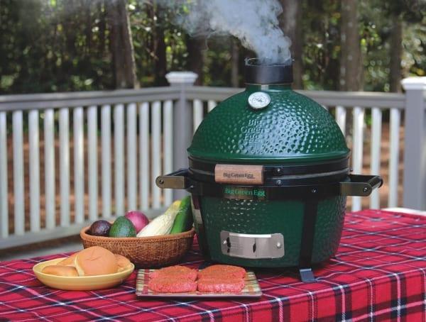 Mini Max grilling outside