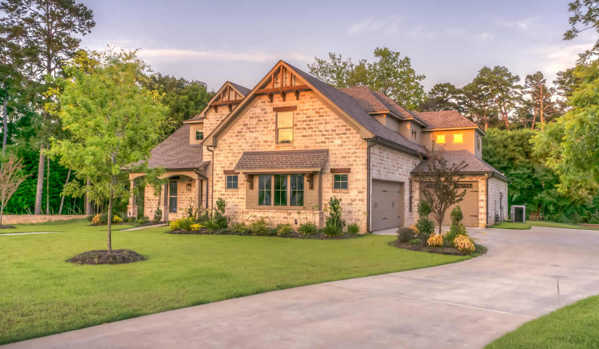 Example home with luxury exterior features