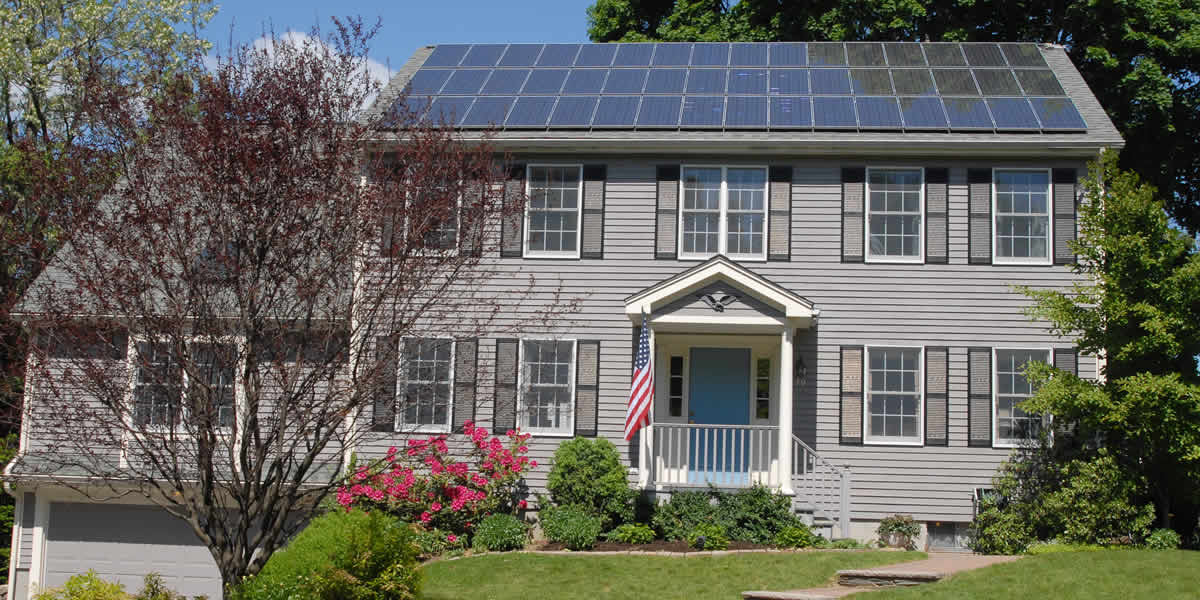 Home Example with Solar Panels