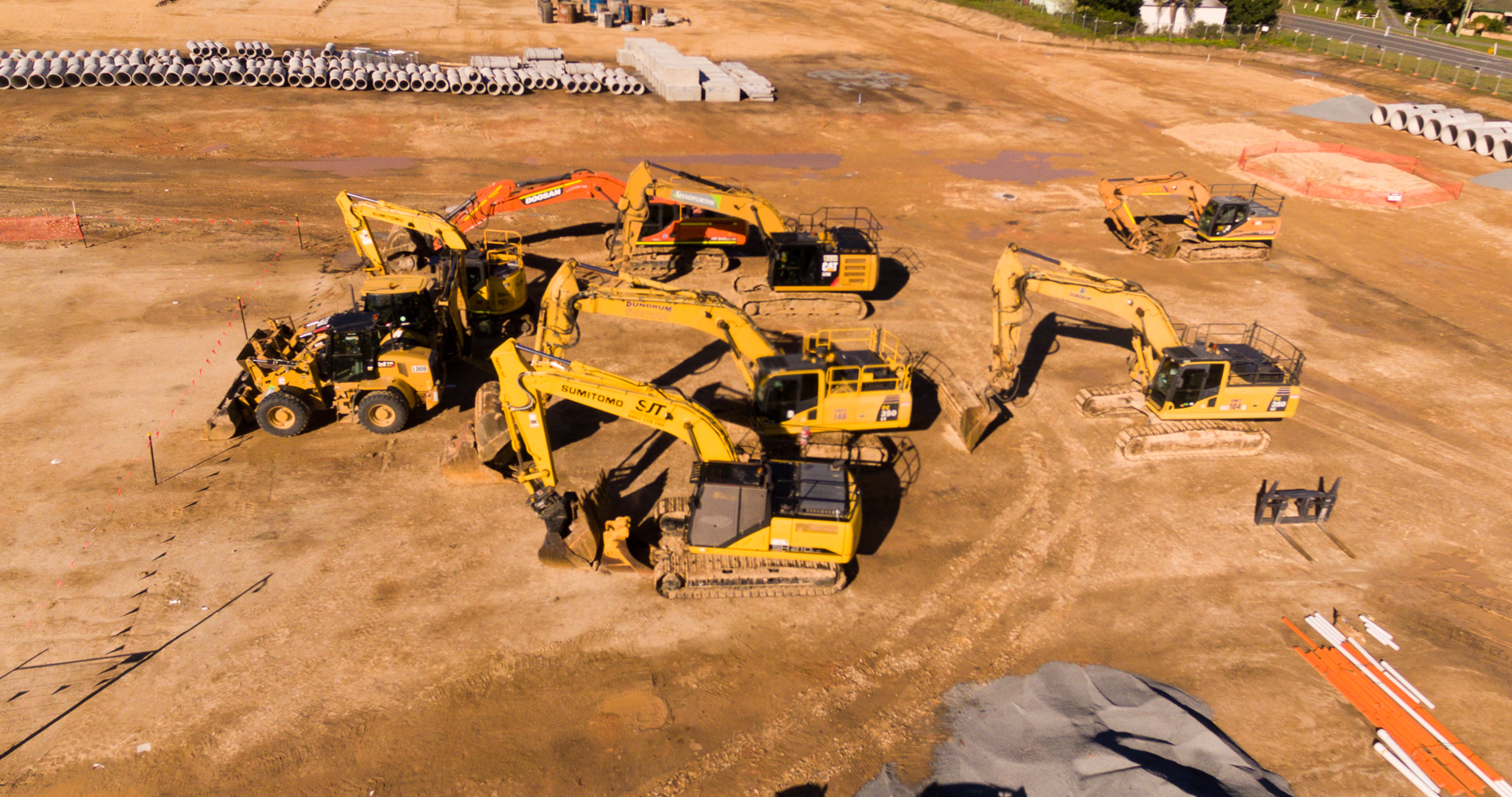 Pimpama machinery drone phtotography