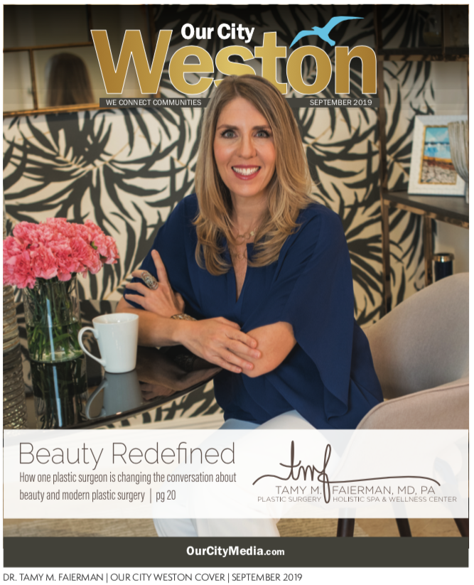 Our City Weston Magazine Dr. Tamy Faierman Cover September 2019