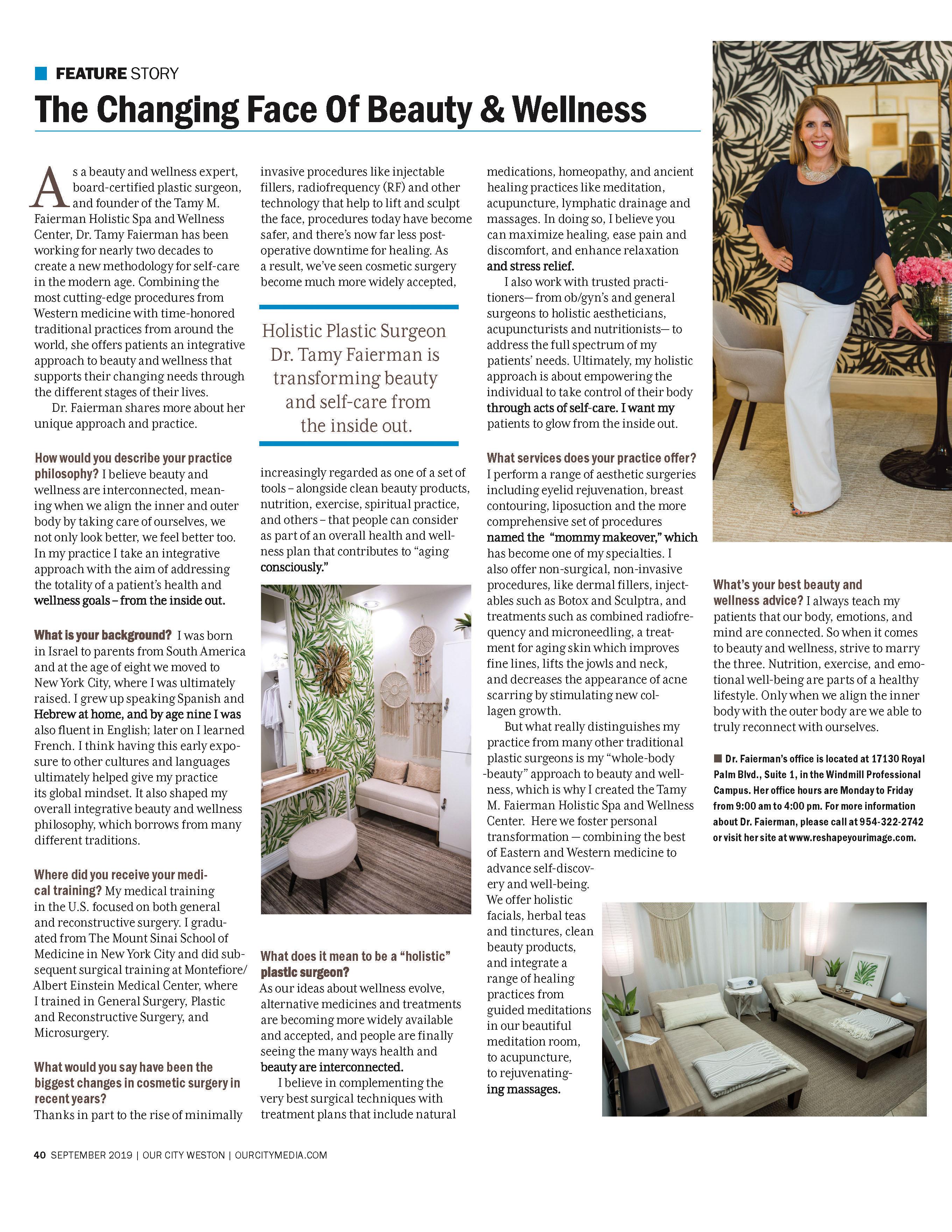 Our City Weston Magazine - Tamy M Faierman